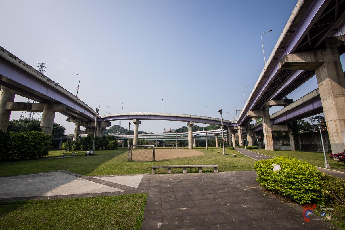 Espaces verts et voies routières