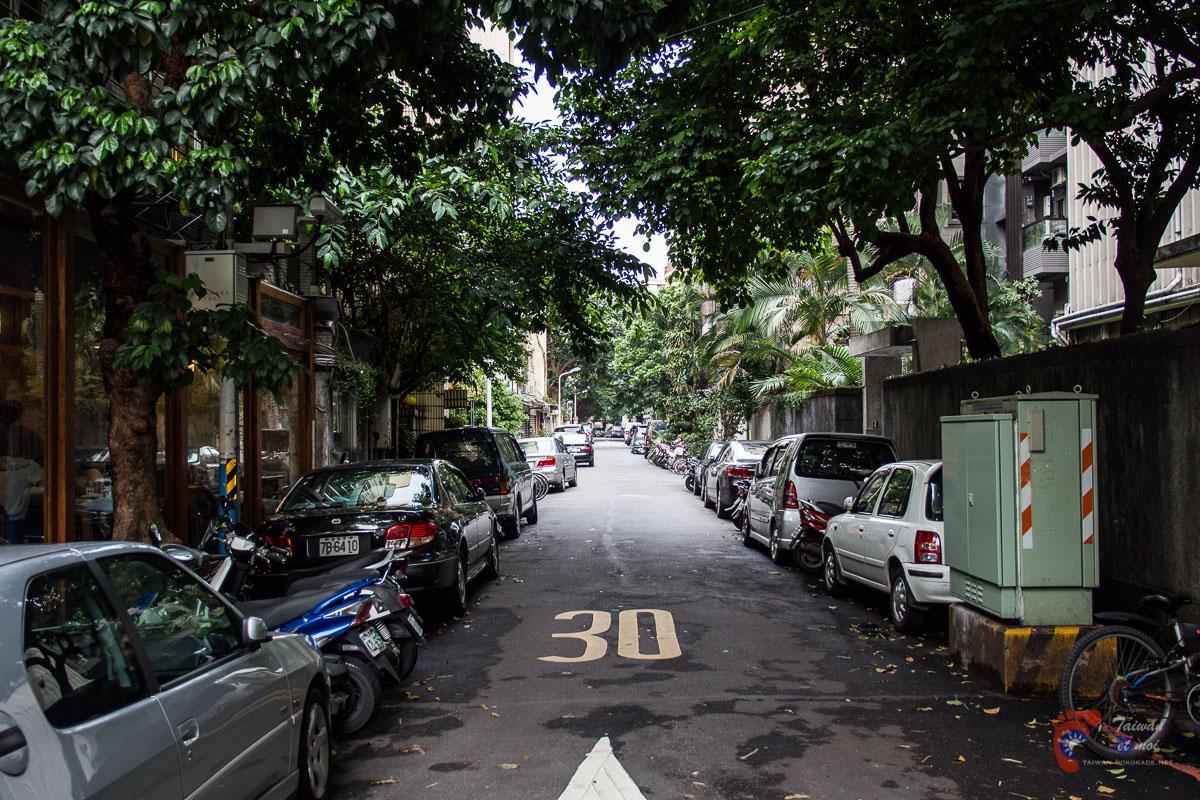 Dans le quartier de Qingtian à Taipei