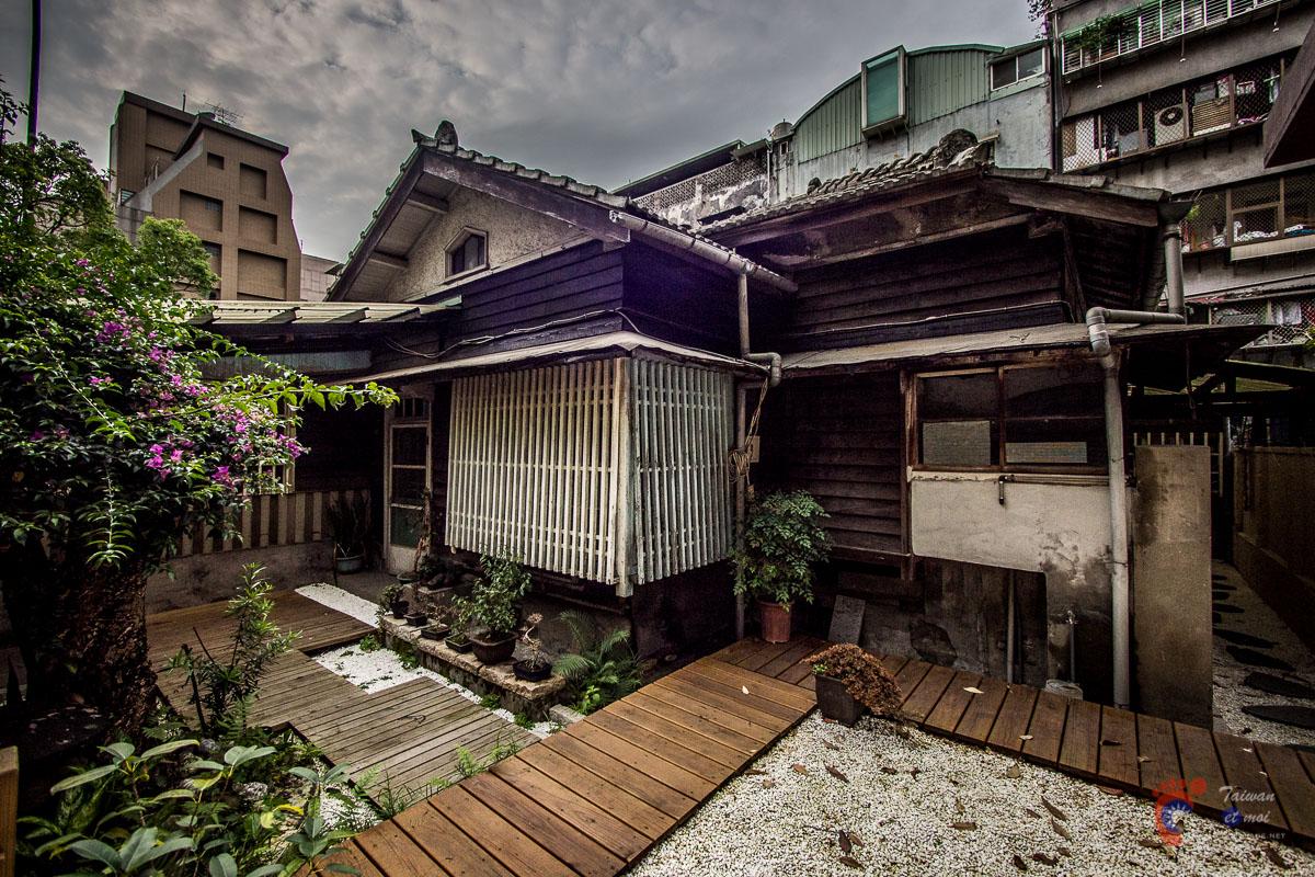 Jardin japonais dans le quartier de Qingtian à Taipei