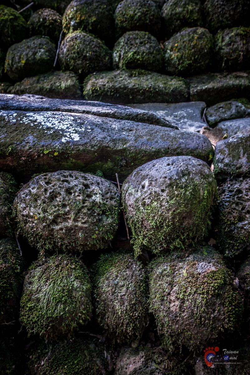 Détails d'un marae, temple local - Moorea