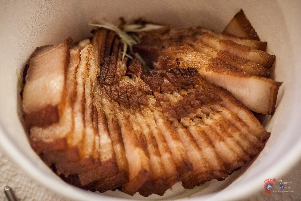 Tranches de porc salées
