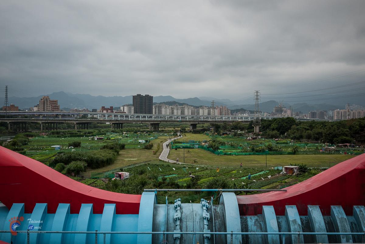 Les berges de Taipei entre Yonghe et Wanhua